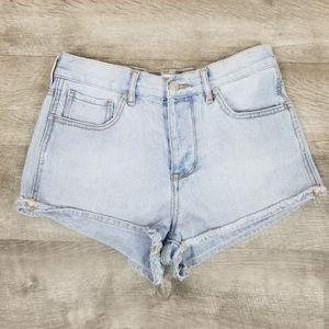 Brandy Melville button fly jean shorts size 27